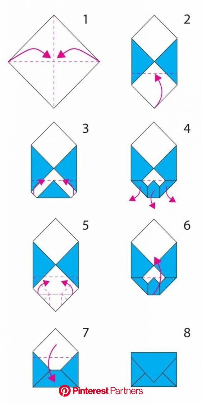Les meilleures idées pour fabriquer une enveloppe charmante soi-même (avec images) | Enveloppe origami, Faire une enveloppe, Origami