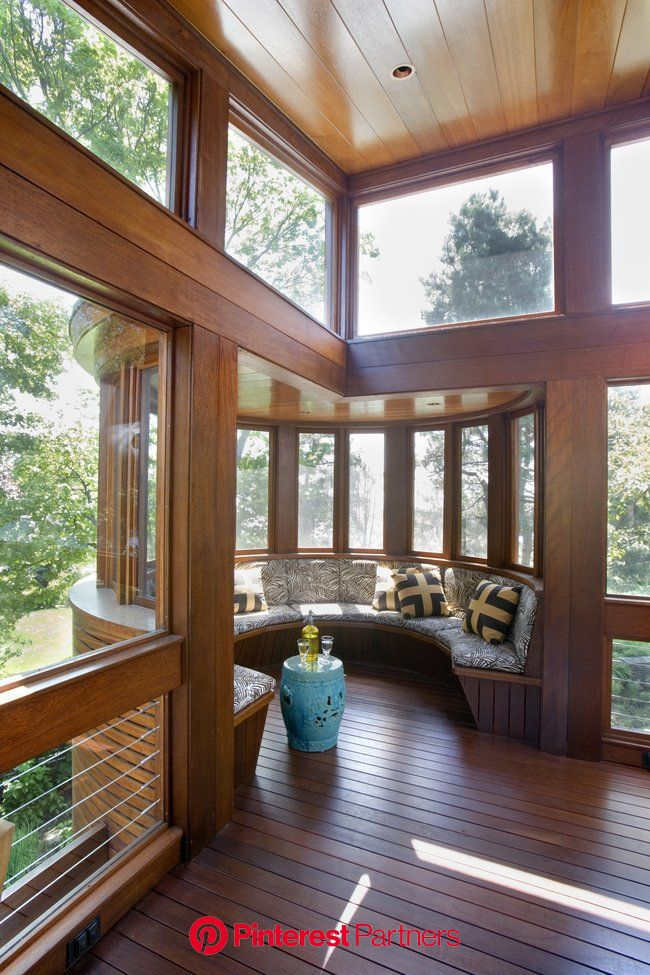 I Wouldn't Mind this Nook | Sunroom designs, Dream house, House design