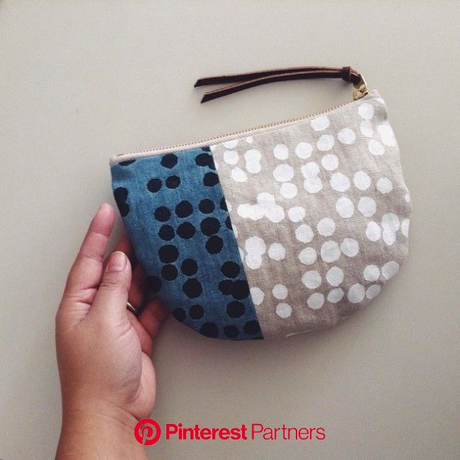 block print pocket pouch | Textile bag, Fabric bags, Purses and bags