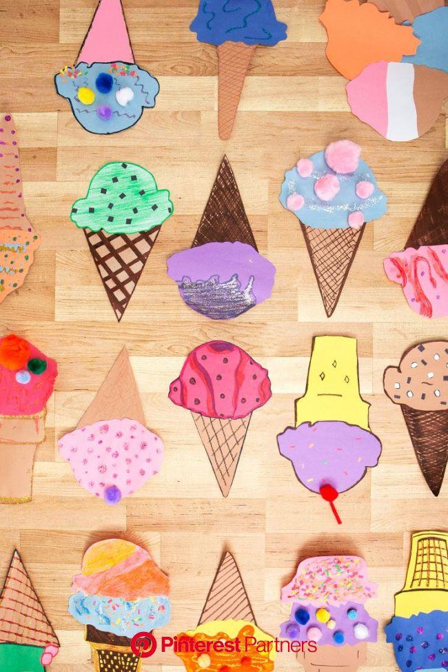 How to make cute paper ice cream cone crafts - Walmart.com | Ice cream cone craft, Cones crafts, Ice cream crafts