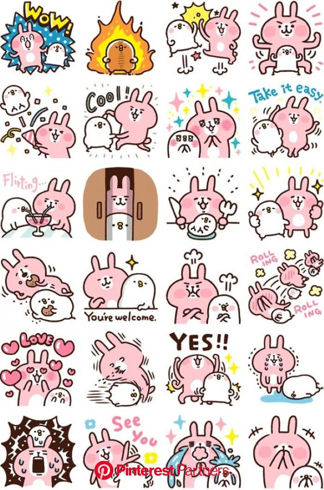 kanahei english stickers | Line sticker, Sticker design, Cute stickers