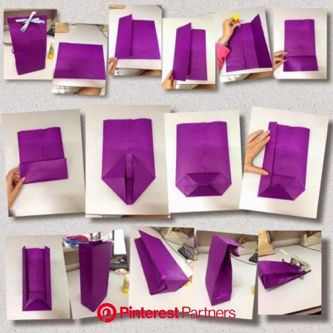 DIY Paper Bag (for give away) | Diy paper bag, Diy gift bags paper, Gift bags diy