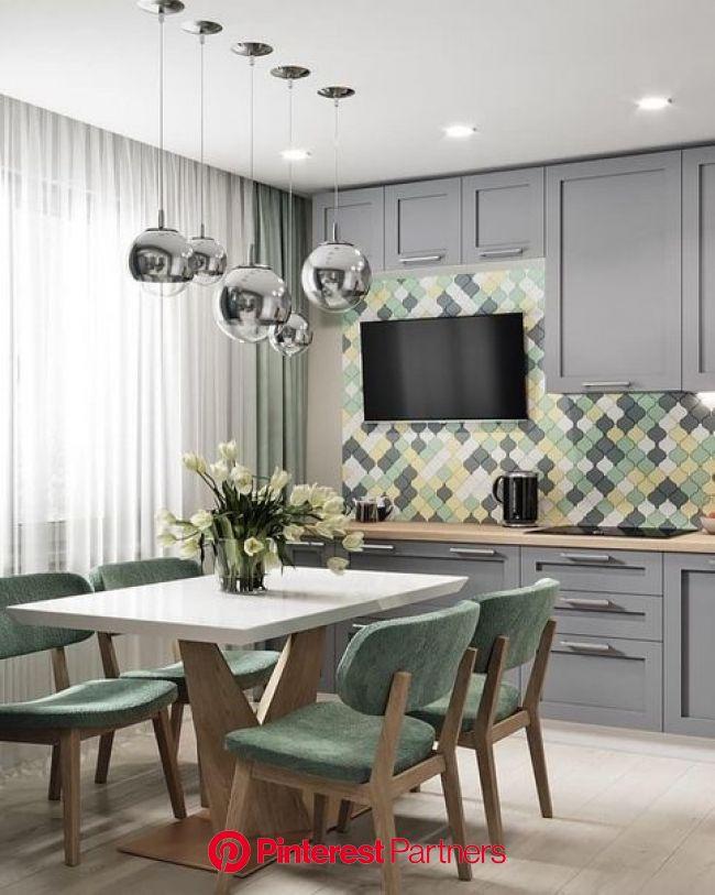 Нескучный дизайн | Интерьер, Интерьер квартиры, Интерьер кухни