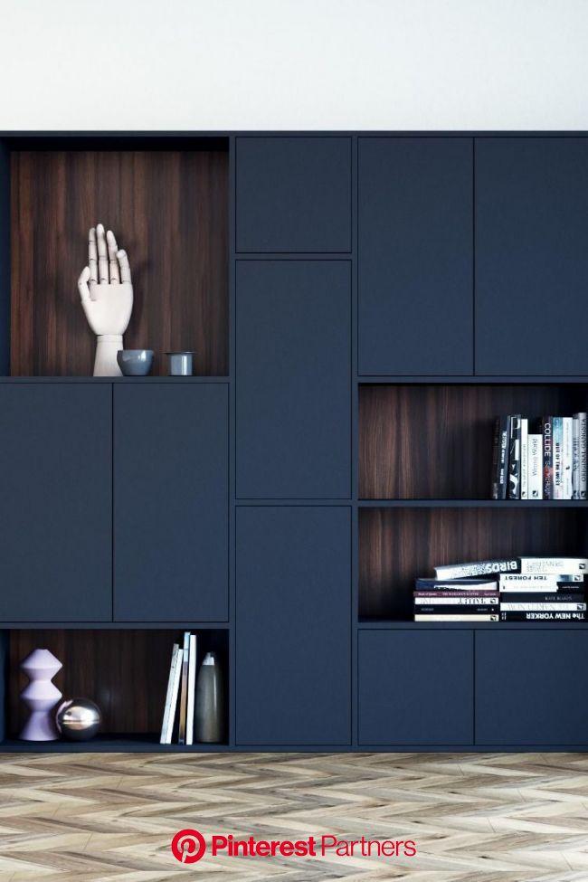 SCHWARZE REGALE SELBST DESIGNEN   Regal schwarz, Schlafzimmer design, Haus interieurs