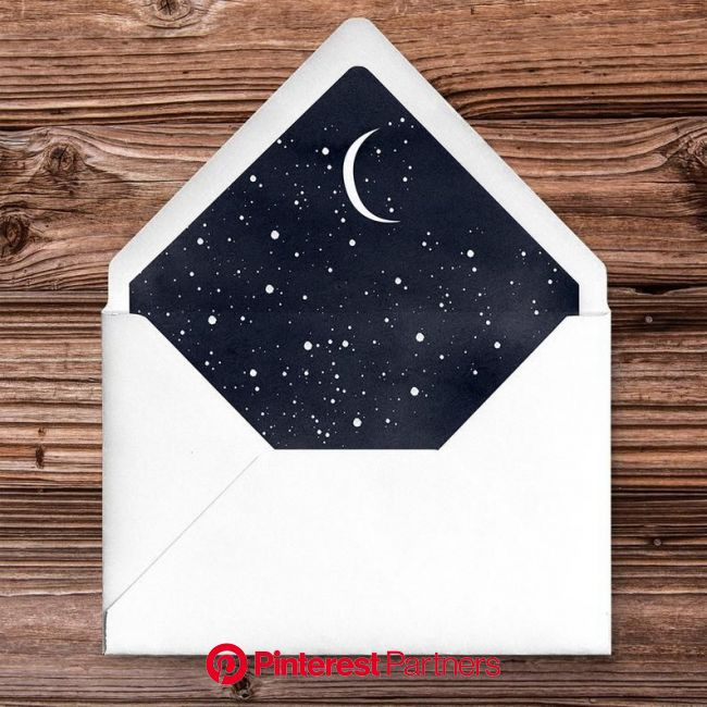 Starry Night Wedding Invitations Stationery Set - Space Wedding - Celestial Wedding in 2021 | Starry night wedding, Envelope art, Wedding stationery s
