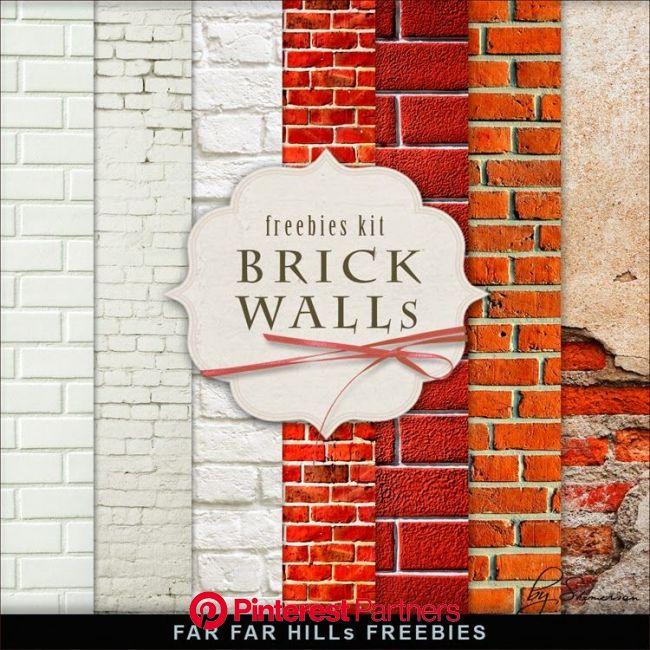 New Freebies Kit of Backgrounds - Brick Walls | Digital paper free, Digital scrapbook paper, Free digital scrapbooking