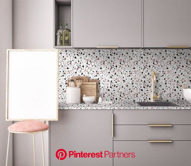 FUNLIFE  Classic Italian Terrazzo Seamless Wallpaper | Etsy in 2020 | Kitchen interior, Kitchen inspirations, Terrazzo