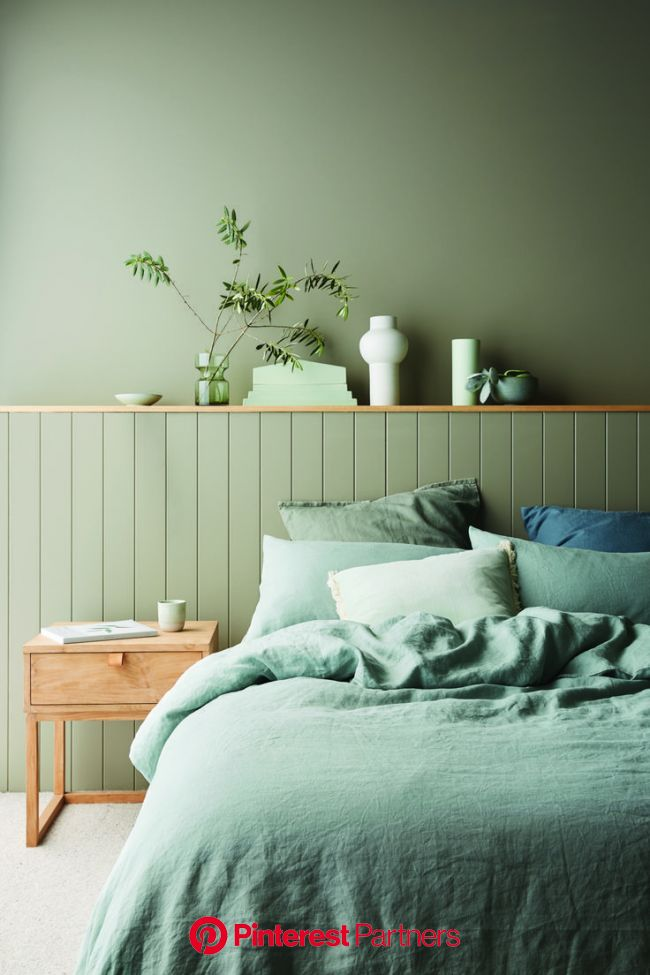 Haymes Paint 2020 colours: A new millennial pink? - The Interiors Addict in 2020 | Bedroom interior, Bedroom wall colors, Bedroom green