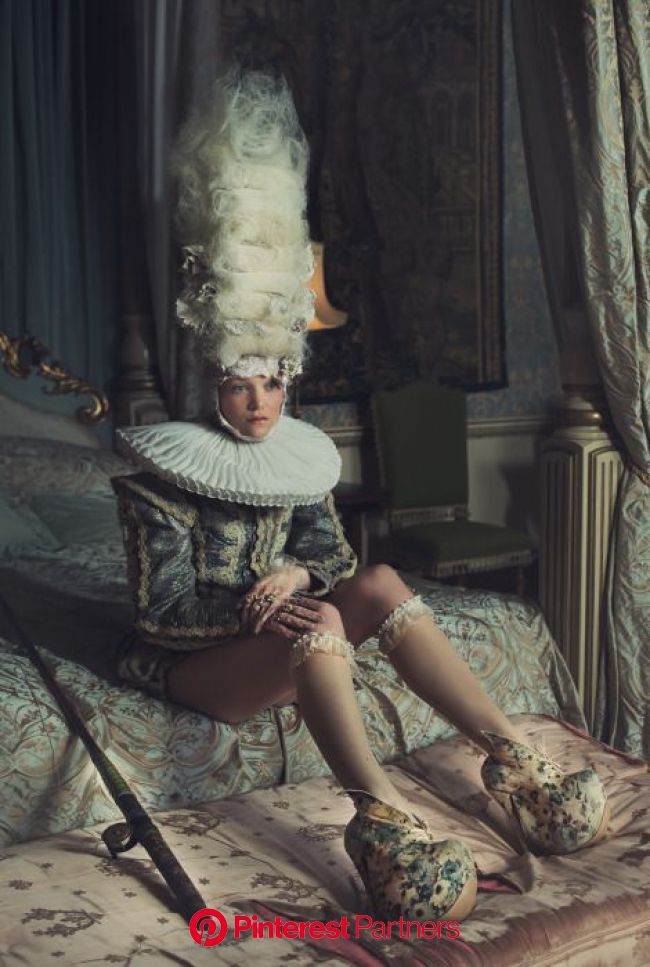 Cross-century couture in a magical, fine-art shoot at Belvoir Castle | Fashion photography, Rococo fashion, Fashion