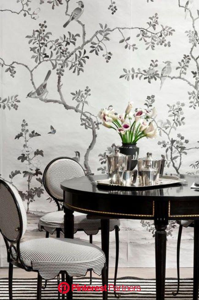 Cool designers alert- Celerie Kemble and Mimi Mcmakin! | Elegant dining room, Black and white dining room, Elegant dining