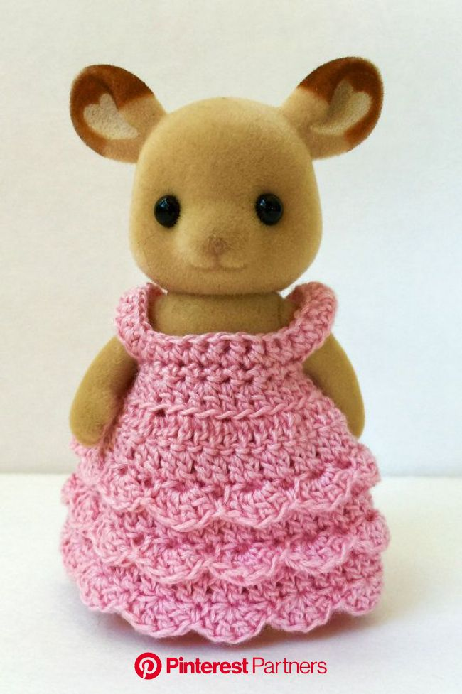 PDF Crochet Pattern for Fancy Dress for Momma Critter | Etsy in 2021 | Crochet patterns, Crochet, Calico critter