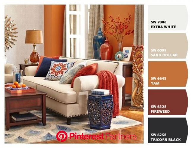 Instantly turn any picture into a palette with ColorSnap, created for you by Sherwin-Williams. | Living room orange, Living room paint, Living room co
