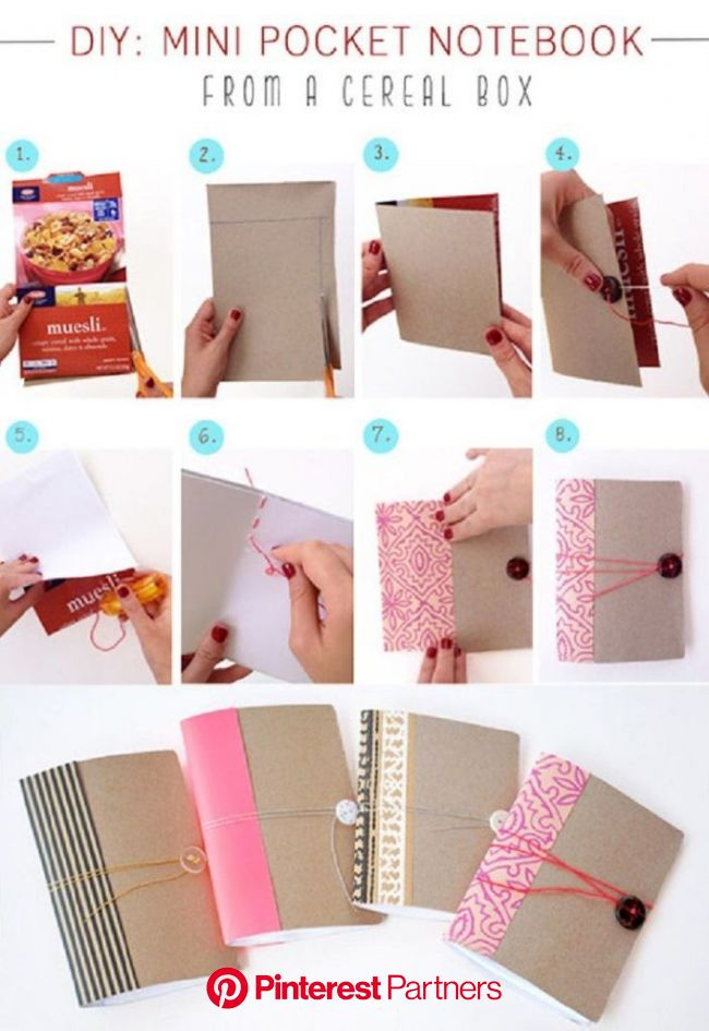 25 DIY Cereal Box Projects You Can Start Anytime | Cereal box craft, Diy book, Kids notebook