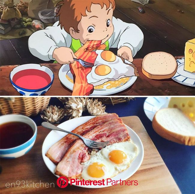 Japanese Woman Recreates Food From Miyazaki Films And Other Anime | Geek food, Food, Cute food