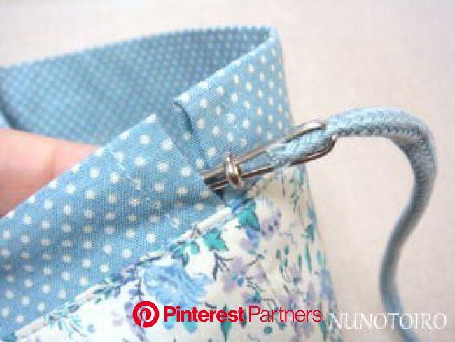 お弁当袋の作り方 袋口の色切り替え | NUNOTOIRO | ハンドメイド 巾着 作り方, 巾着 作り方, 巾着袋 作り方