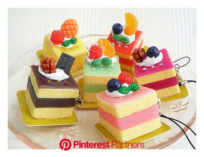 Miniature Fruit Cake Cute Kawaii Dolls Fake Food by BEADSPAGE, $3.90 | Felt food diy, Fake food, Sponge crafts diy