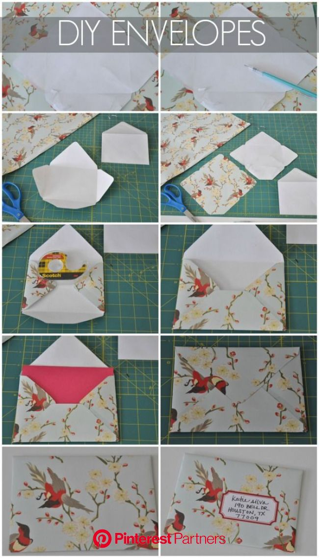 DIY Envelopes | Diy envelope, Homemade envelopes, How to make an envelope