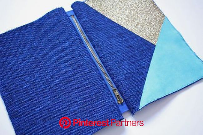 Une trousse, un zip et une astuce pour des angles parfaits ! (tuto) | Pochette cuir, Tuto pochette couture, Diy pochette