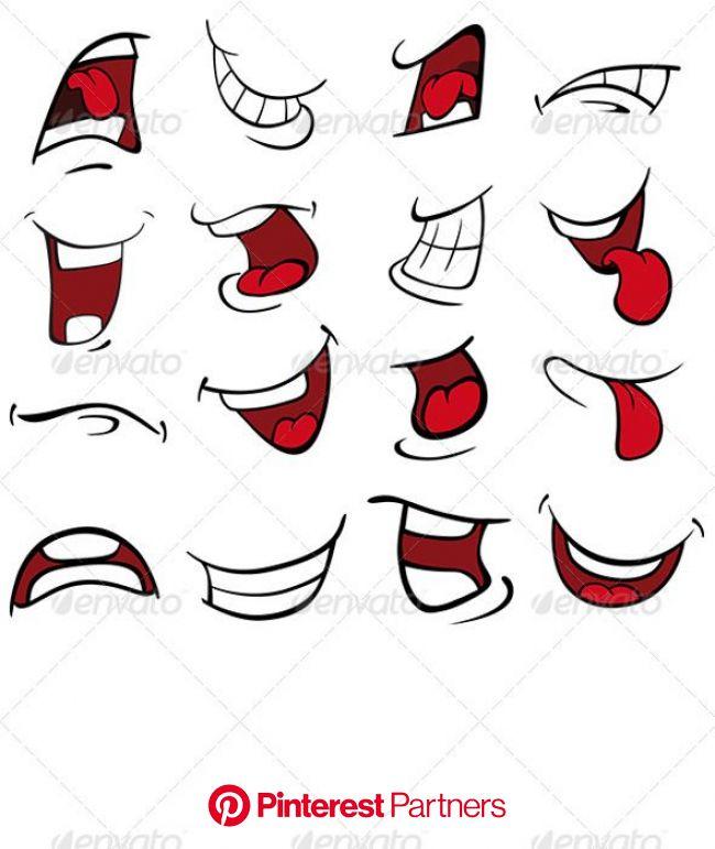 Set of Mouths Cartoon | Drawing cartoon faces, Graffiti drawing, Graffiti lettering