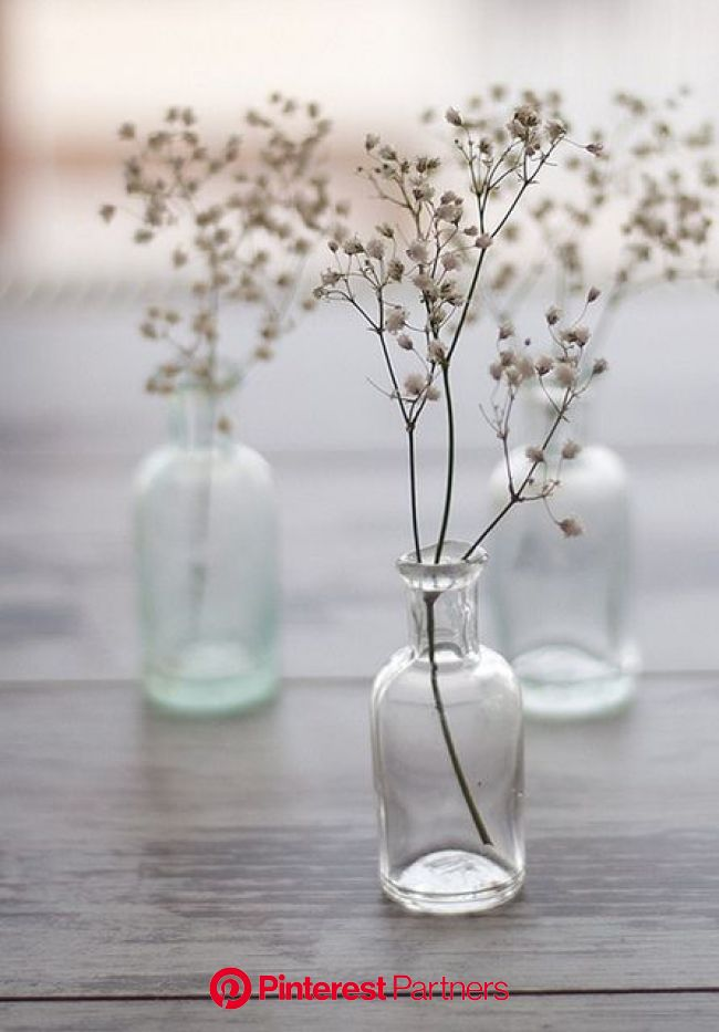 natural style living by the style files, via Flickr   Simple centerpieces, Vintage bottles, Vase