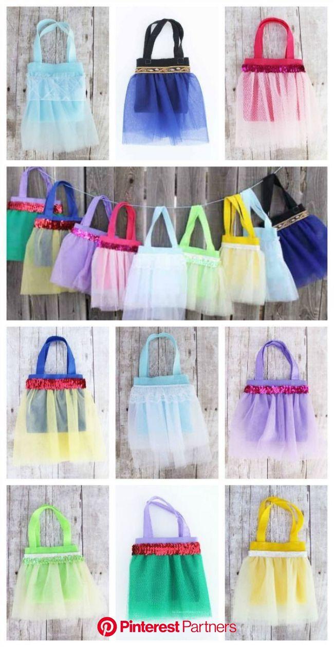 Disney Princess Tutu Favor Bags | Disney princess tutu, Disney princess crafts, Disney princess birthday party