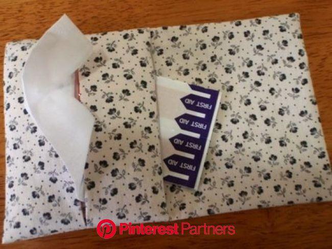 『ポケット付きティッシュケースの作り方』   ポケットティッシュケース 作り方, ティッシュケース, 移動ポケット 型紙