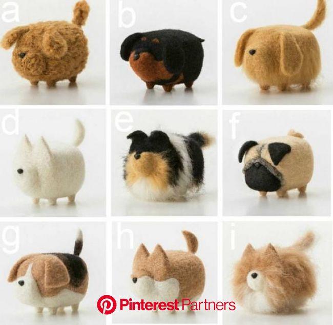 Wool Needle felt Faceless Dog for DIY Handmade kit package | Etsy in 2020 | Felt animals, Needle felted animals, Needle felting projects