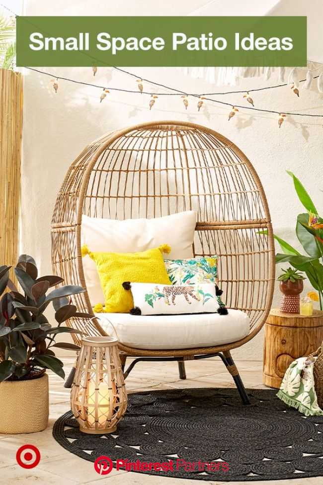 Design an outdoor room in your backyard, covered patio or pergola with decor, furniture & budget-fri… in 2020 | Small balcony decor, Balcony decor