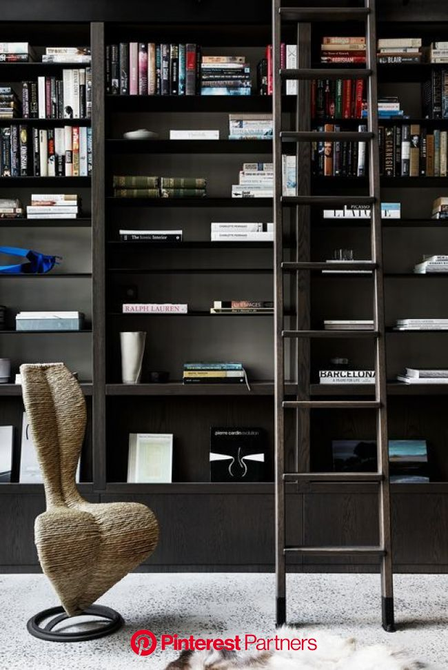 Here Are 45 Stylish Home Libraries for the Fantasy File | Home library design, Office interior design, Home libraries