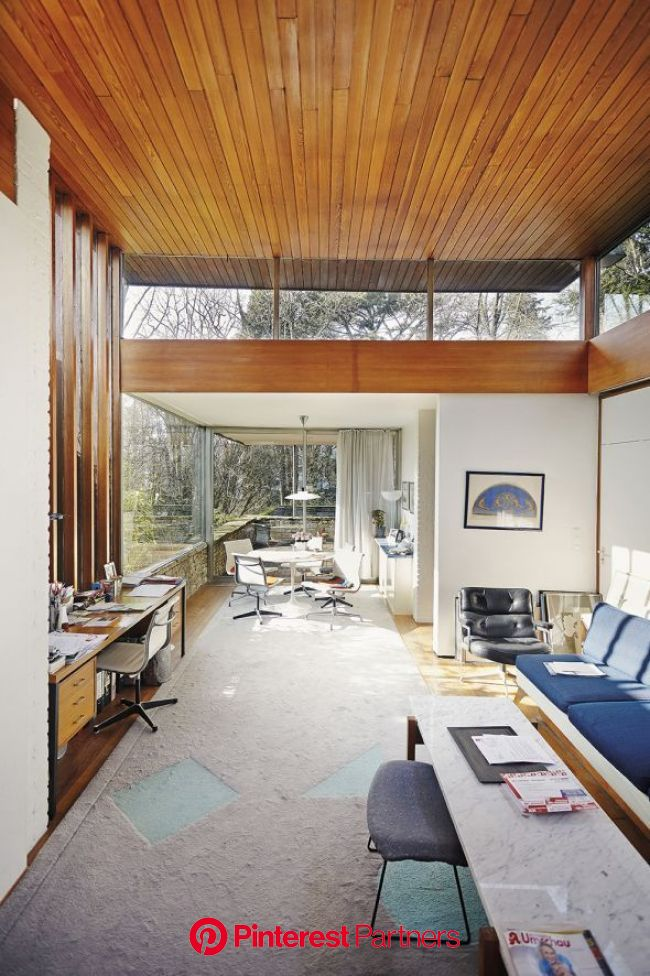 What's Hot On Pinterest: Mid-Century Modern Houses (With images) | Interior architecture, Mid century modern house, Interior architecture design