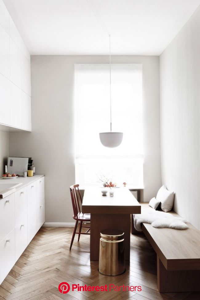 Earthly and Ethereal: An Apartment Makeover by Studio Oink (Remodelista: Sourcebook for the Considered Home) | Dining room small, Kitchen remodel smal