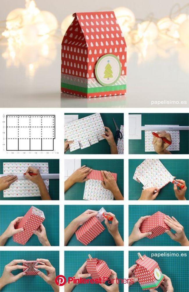 Handmade συσκευασίες για τα δώρα των Χριστουγέννων - Savoir Ville | Caixa de presente faça você mesmo, Caixas artesanais, Caixa de presente de papel