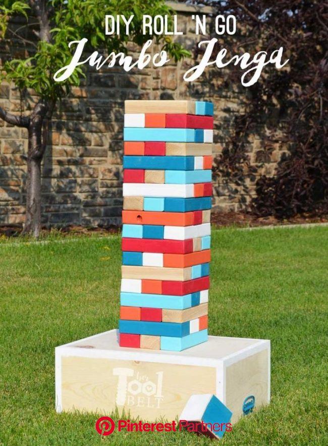 How to Make a Giant Jenga Game (With images) | Jenga diy, Diy outdoor party, Yard jenga