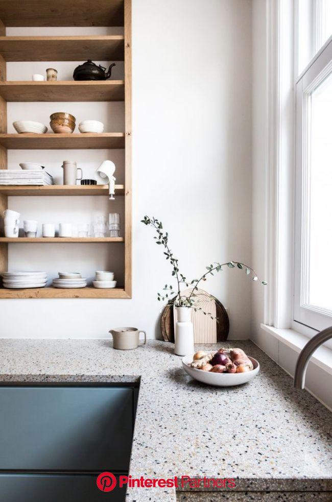 Blue kitchen with terrazzo worktops | Avenue Studio (met afbeeldingen) | Keuken ontwerp, Ideeën voor thuisdecoratie, Minimalistische keuken