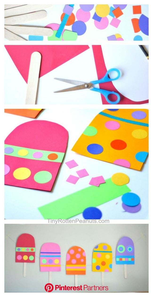 Giant Paper Popsicle Craft • Craftwhack | Popsicle crafts, Classroom crafts, Preschool crafts
