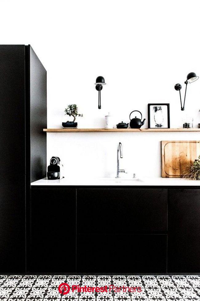 Tendência de cores: cozinha preta está com tudo   Parisian kitchen, Interior design kitchen, Kitchen design