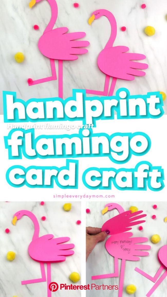 Handprint flamingo craft: An immersive guide by Easy Kids Crafts & Activities   Preschool & Kindergarten Ideas