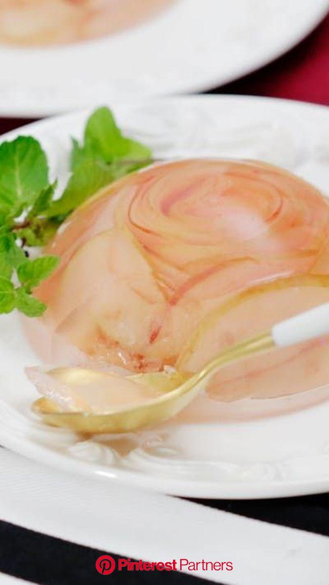りんごバラゼリー | Recipe in 2020 | Jello recipes, Jelly recipes, Food