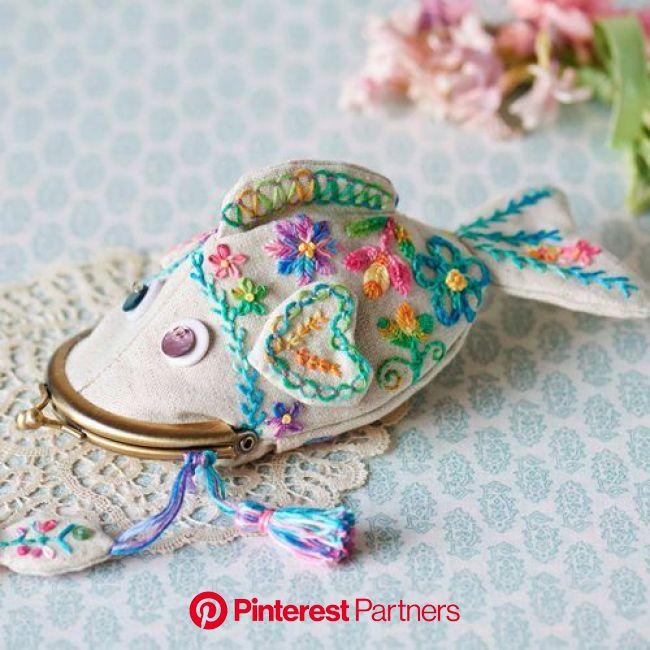 ぱくぱく鯉ンケース | 日本刺繍, 刺繍模様, 和裁