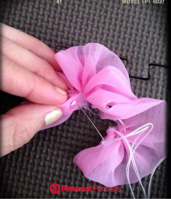 シフォンお花の作り方♥️ | 手作り ヘアアクセサリー, 手作り品 バザー, リボンの花の作り方