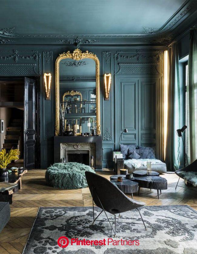 〚 Смелая темная гамма для квартиры в Париже 〛 ◾ Фото ◾ Идеи◾ Дизайн | Beautiful bedroom colors, Apartment interior design, Apartment interior
