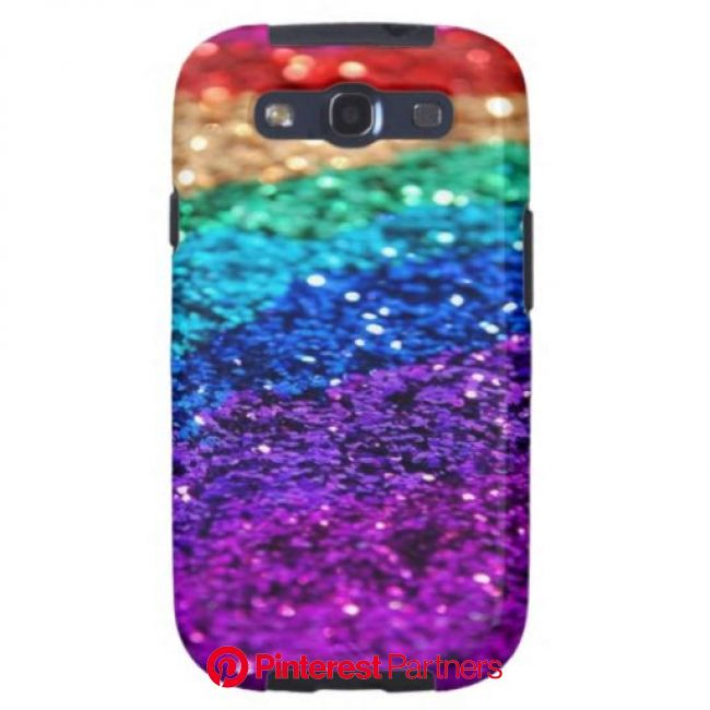 glitter Samsung Galaxy Case | Zazzle.com in 2021 | Rainbow glitter, Rainbow, Glitter wallpaper