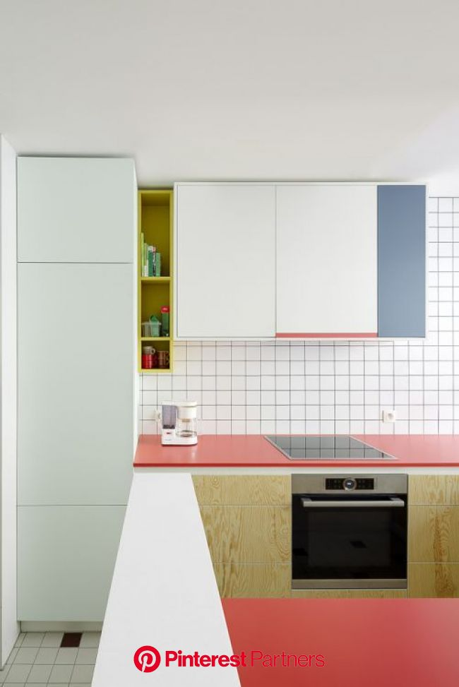 Trend Spotting: Colorblocking in the Kitchen | Kitchen design color, Interior design kitchen, Kitchen interior