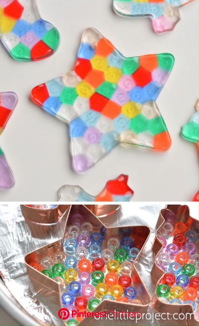 Melted Bead Ornaments | Pony Bead Christmas Ornaments | Fun christmas crafts, Crafts, Christmas crafts for kids