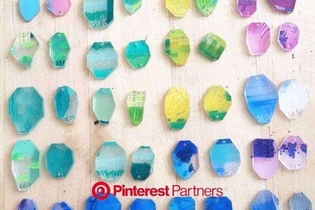 オトナかわいい♪簡単【プラバンアクセサリー】の作り方&デザインアイディア   シュリンクプラスチック製の宝石類, プラバン アクセサリー デザイン, プラバン アクセサリー