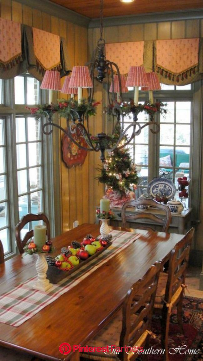 Christmas Home Tour {Downstairs} - Our Southern Home | French country kitchens, Country kitchen, French country decorating