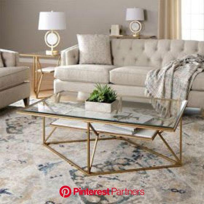 Nowojorski styl w Polsce   Living room furniture tables, Marble tables living room, Living room table