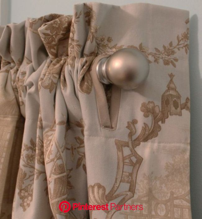 Make a large tailored button hole to allow a return on pole top panels. by echkbet | Curtains living room, Diy curtains, Stylish curtains