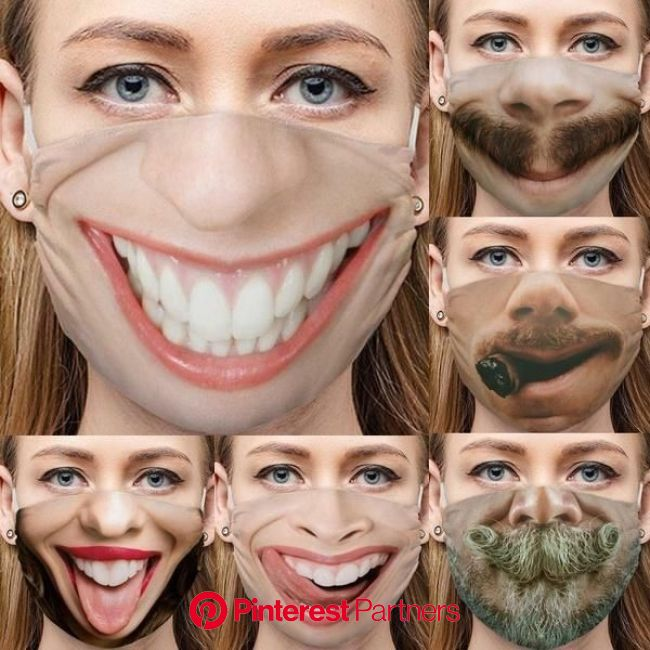 Big Smile Facemask hot in 2021 | Funny face mask, Party face masks, Face