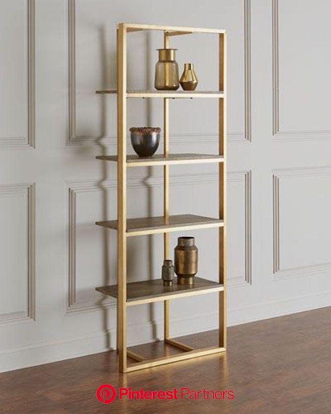 HBCTC Kalinda Brass Etagere | Muebles para el hogar